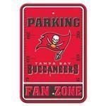 Tampa Bay Bucaneers Plastic Parking Sign Fan Zone NFL Licensed 92238