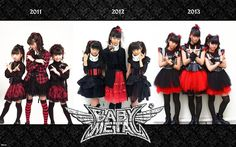 #BABYMETAL over the the early three years (they began in 2010)