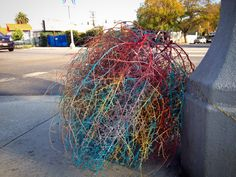painted, tumbleweed, tumble, weed, charles, level, charles level, street art, #operationtumbleweed, dtla, los angeles, la, art, street art, street, graffiti, paint, blue, pink, design, nature, hipster, paint, city, losangeles