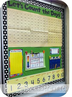 Love this for counting the days in school.  What a great way to also show groups of ten.