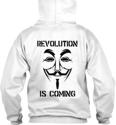 Revolution Is Coming White Sweatshirt Back
