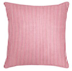 Welted Pillow in Tic Toc: Rhubarb | Maine Cottage