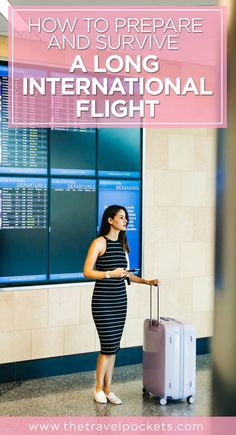 10 Tips on How to Prepare and Survive a Long International Flight #travel #international #traveltips