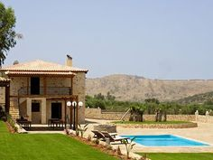 Rethymno villa rental - The pool and garden of the villa offer you peace of mind and body! Swimming Pools, Bbq, Villa, Relax, Peace, Mansions, Country, House Styles, Garden