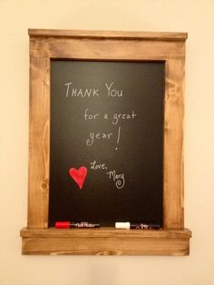 Super cute framed chalkboard. For a gift? Free Plans at Ana-White.com