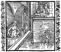 Dürer, Albrecht: Illustration zum »Der Ritter vom Turn«, Szene: Bathseba im Bade