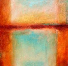 Key West Reflections - Original Abstract Acrylic Modern Art Contemporary Painting by Filomena de Andrade Texas Contemporary Artist, painting by artist Filomena Booth