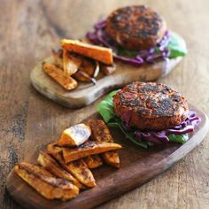 These are the most delicious spicy bean burgers! They're full of flavour, spices and they're gluten free, dairy free.