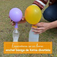 Encher balão com vinagre e bicabornato é mais uma experiência legal que serve…