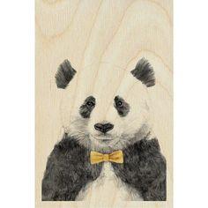 Timbergram Houten Kaart 10x15 cm - Panda