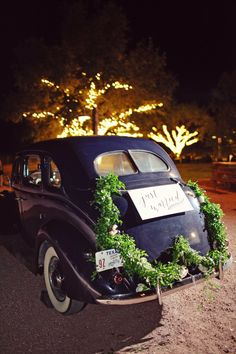 Just Married - The Get Away | See the wedding on #SMP ~ http://www.stylemepretty.com/texas-weddings/2013/11/27/mansefeldt-ranch-wedding-from-the-nichols/ | Photography: The Nichols