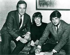 Don Kirshner, Carole King and Gerry Goffin, two of his staff songwriters at Aldon Music in the famous Brill Building in New York.