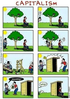 Funny pictures about Capitalism. Oh, and cool pics about Capitalism. Also, Capitalism photos. Political Art, Political Cartoons, Caricature Art, Anti Capitalism, Communism, Pictures With Deep Meaning, Deep Images, Minecraft Banner Designs, Satirical Illustrations