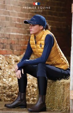 Premier Equine's new Spring Summer 2016 clothing range is available to order now. Model wears: P.E. cap £9.99, Durante down gilet £79.99, Combretta technical layer £34.99, Felisa breeches £69.99 & Balmoral paddock boots £79.99. (www.premierequine.co.uk)