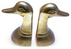Brass Mallard  Bookends | Love the Look | One Kings Lane