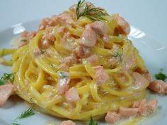 Rezance s čerstvým lososom a kôprom - Recepty CucinacoNoi