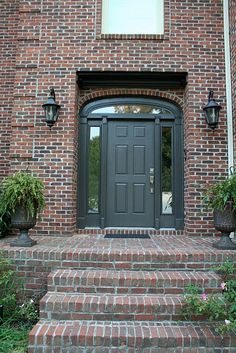 What Color To Paint Front Door With Red Brick Google Search - What does shut the front door mean