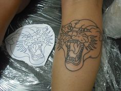 #traditional #traditionaltattoos #oldschool #oldschooltattoos #tattoo #tatuagem #panther #pantera