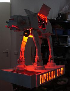 AT-AT PC custom PC case - I've seen some really great mods, and this is one. #starwars