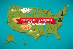 Ranking all 50 states on inventions, food/drink, somewhat productive famous people, and more.