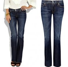 good fitting jeans.  7 for all mankind jeans