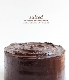 Salted Caramel Buttercream Dark Chocolate Cake