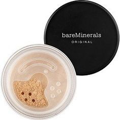 Shop bareMinerals' Original Loose Powder Mineral Foundation Broad Spectrum SPF 15 at Sephora. This foundation delivers buildable coverage. Best Foundation For Combination Skin, Foundation For Oily Skin, Mineral Foundation, Matte Foundation, No Foundation Makeup, Powder Foundation, Foundation Contouring, Estee Lauder Double Wear, Sephora
