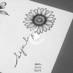 White background Tattoo for man and woman - Tattoo drawings - Mommy Tattoos, Future Tattoos, Tattoos For Guys, Tattoos For Women, Owl Tattoos, Tatoos, Sunflower Tattoo Shoulder, Sunflower Tattoos, Cute Small Tattoos