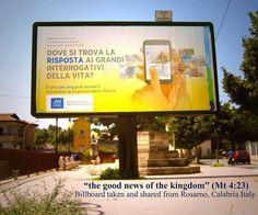 JW Billboard in Italy