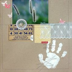 love this...pics of child, their likes, the calendar (page of day) hand print= record of child in given month/year