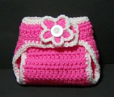 simple diaper cover --> flower goes on/off the button - recently made this and it was very easy
