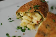 Mac & Cheese Stuffed Chile Rellenos. Definitely need to try this one!