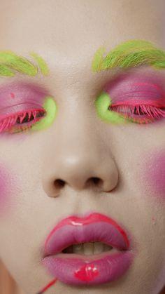Bride Eye Makeup, Fancy Makeup, Green Makeup, Unique Makeup, Creative Makeup Looks, Pink Makeup, Crazy Makeup, Colorful Makeup, Natural Makeup