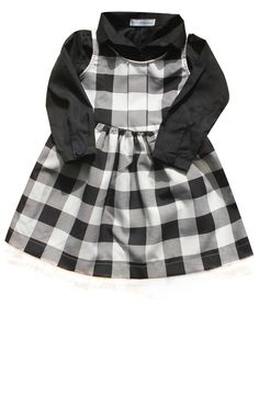 Little Babushka - Black checked and shirt dress