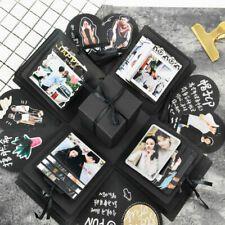 BuyToMe Shop Net red explosion box DIY handmade album creative couple romantic b… Diy Photo Album Scrapbook, Diy Album Photo, Scrapbook Albums, Diy Photo Box, Photo Boxes, Picture Boxes, Diy Scrapbook, Surprise Box Gift, Diy Gift Box