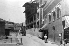 A view of Howell Avenue in Bisbee, Arizona about 1905.  Note the famous Copper Queen Hotel on the right.  This image is from the photograph collection of the Bisbee Mining & Historical Museum. Discover more Bisbee, Arizona images and artifacts at www.facebook.com/BisbeeMuseum. #bisbee #arizona #bisbeemuseum #history