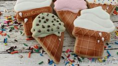 Ice cream cookies by Tami Rena's Cookies