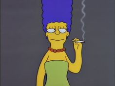 Marge with a cigarette