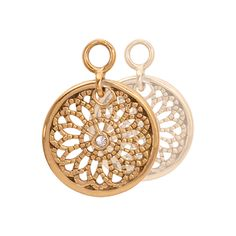 Nikki Lissoni Vintage Flower Earring Coins - EAC2022GS http://www.oghamjewellery.com/collections/nikki-lissoni-jewellery