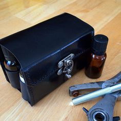 High-grade leather case that holds 8 15ml essential oil bottles