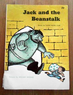 Jack and the Beanstalk (1965) Illustrated by William Wiesner - Vintage Scholastic Children's Book