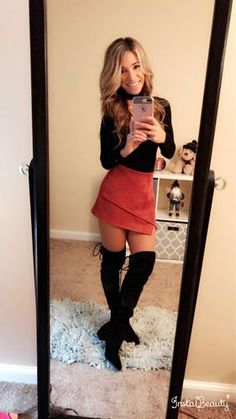"""""""Love this suede skirt!!!! Perfect for fall!"""" -Customer"""