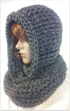 Crochet Scarf Serenity Hooded Scarf - free crochet pattern by Tina Lynn Creations. Sizes child, adult and XL. - We consider this to be an easy pattern consisting of basic crochet stitches. Hooded Scarf Pattern, Crochet Hooded Scarf, Knit Or Crochet, Crochet Scarves, Crochet Shawl, Crochet Crafts, Crochet Clothes, Crochet Infinity Scarf Free Pattern, Crocheted Hats