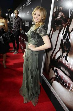 Chloe Grace Moretz at the #Carrie #LA film premiere.