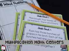 10 math centers that allow students to practice multiplication strategies.