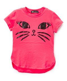 Coral Cat Tee - Toddler & Girls