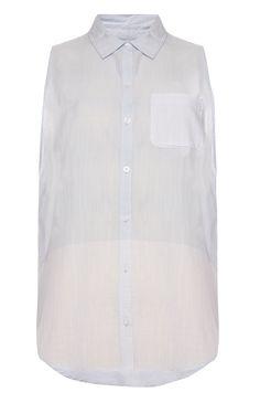 Primark - Lichtblauwe blouse zonder mouwen