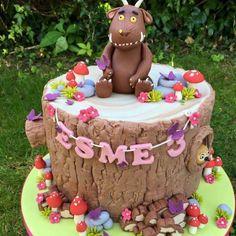 Gruffalo birthday celebration cake with toadstools, wood stack pile, owl Girls 2nd Birthday Cake, Dinosaur Birthday Cakes, Birthday Ideas, Fourth Birthday, Gruffalo Party, Celebration Cakes, Birthday Celebration, Amazing Cakes, Beautiful Cakes