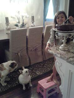 Francesca waiting for cake