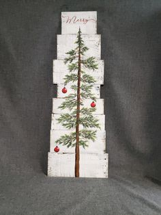 Christmas Tree With Snow, Merry Christmas, Christmas Tree Painting, Christmas Signs, Christmas Crafts, Christmas Decorations, Christmas Ideas, Christmas Wood, Pallet Decorations